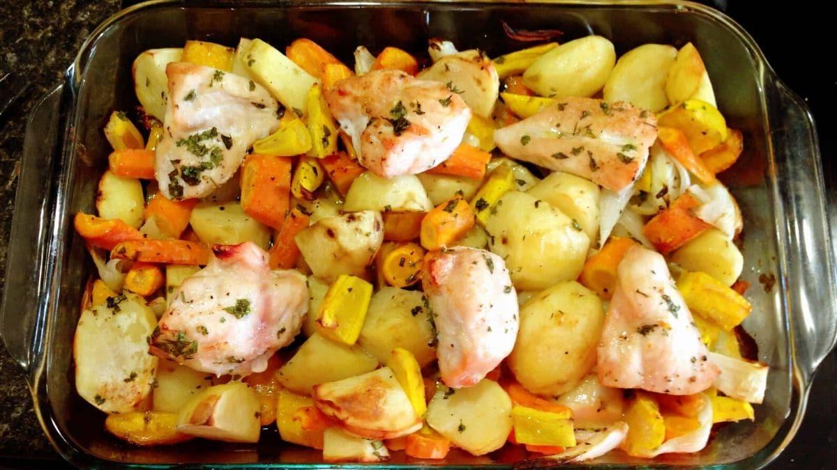 Recette poulet carotte pomme de terre au four