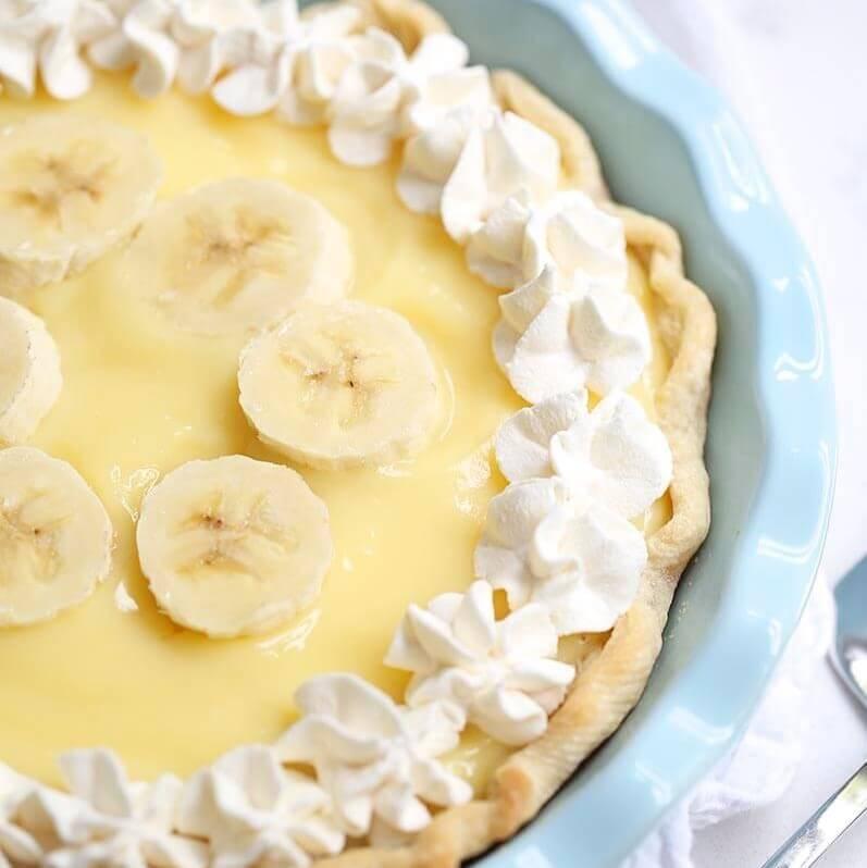 Tarte facile à la crème de banane