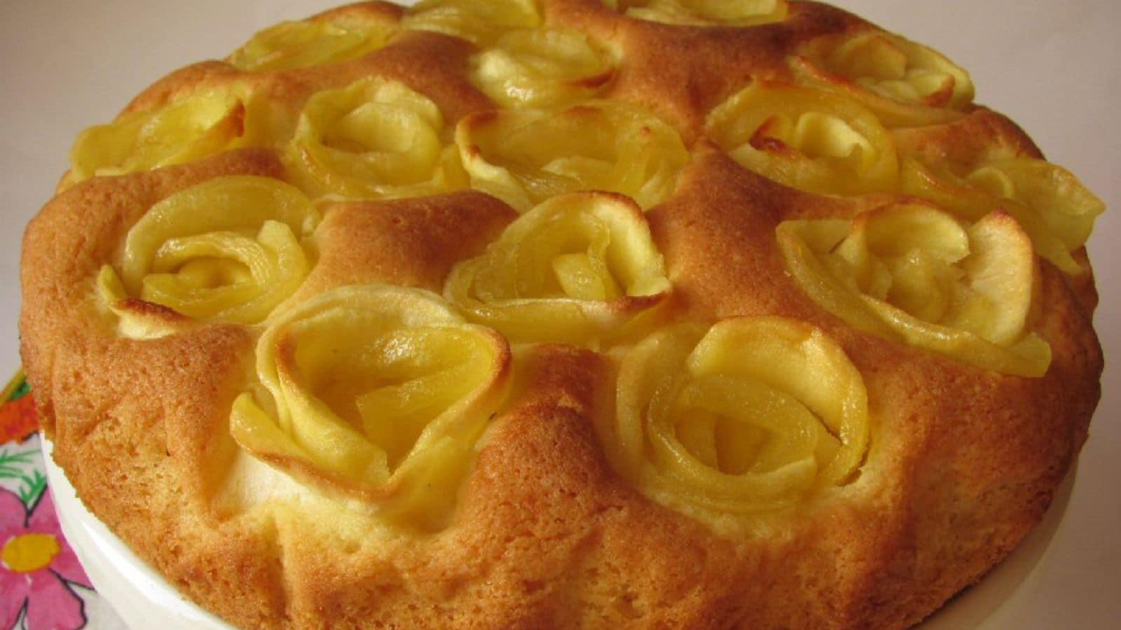 Gâteau aux roses de pommes