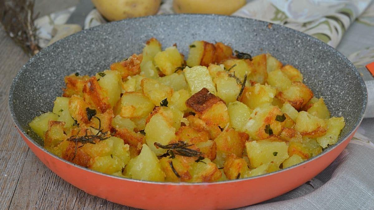 Pommes de terre farinées à la poêle